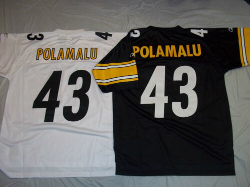a3337304ac9 70%OFF TROY POLAMALU 43 PITTSBURGH STEELERS ADULT REEBOK PREMIER STITCHED  JERSEY