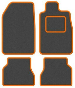Ford-Escort-Mk2-75-80-Super-Velour-Dark-Grey-Orange-Trim-Car-mat-set