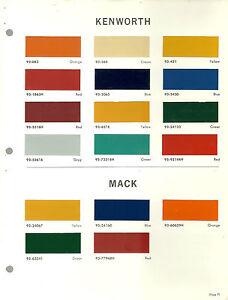 Dupont Paint Code Chart