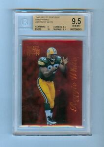 REGGIE-WHITE-1996-SELECT-CERTIFIED-RED-PROMOS-BGS-9-5-GEM-MINT-PACKERS