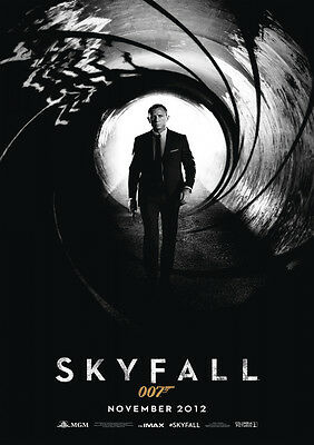 New Movie Poster Print: Skyfall James Bond  **DISCOUNTED OFFERS** A3 / A4