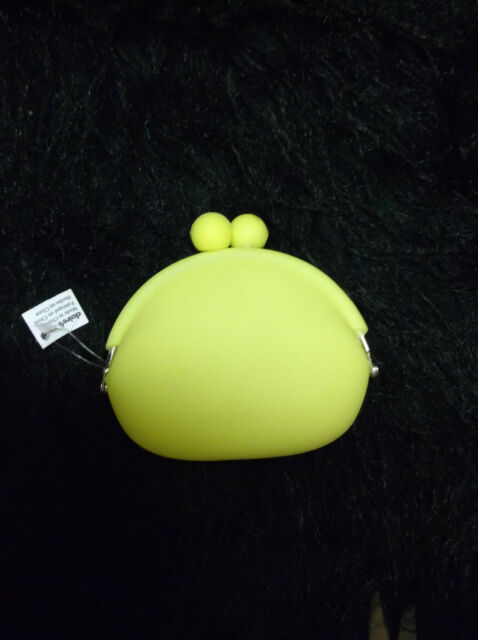 New yellow jelly coin purse snap closure fancy change purses wallets pop culture