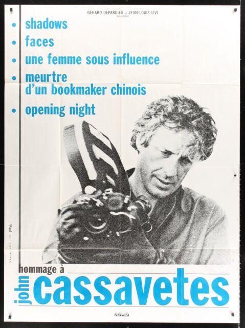 """JOHN CASSAVETES FILM FESTIVAL 46""""x62"""" French poster"""