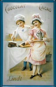LINDT-chocolat-cacao-Panneau-de-Tole-Metal-Panneau-en-etain-20-x-30-cm
