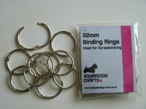 32mm METAL BINDING RINGS 10 PK -  GOOD FOR BINDING AND SCRAPBOOKING