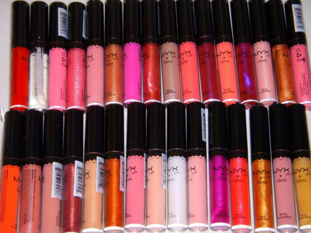 """36 NYX ROUND LIP GLOSS - """"FULL COLOR SET"""" OR PICK ANY 36 COLORS"""