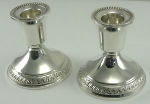 Sterling-Silver-Candlesticks-Duchin-Creation-Weighted-Pair-Candle-Holders