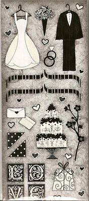 OUR WEDDING Glitter Scrapbook Stickers