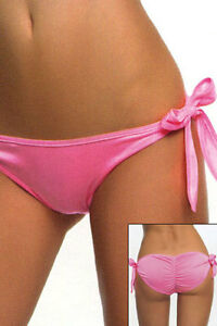 Sexy-Lycra-Lined-Tie-Sides-Ruched-Scrunch-Pucker-Back-Panty-Swim-Bottom-Swimwear