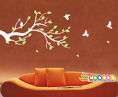 """Wall Decor Decal Sticker Mural Removable large Branches Leaves Birds 49""""  DC0290"""