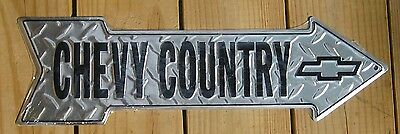 Chevy Country metal ARROW STREET SIGN chevrolet truck garage wall decor gift
