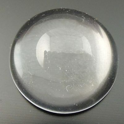 50pcs Glass Clean Transparent Round Dome Cabochons/Cameo Setting 12mm 06931