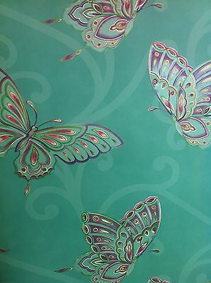 Stunning  Butterfly Wallpaper, Duck Egg Blue Background