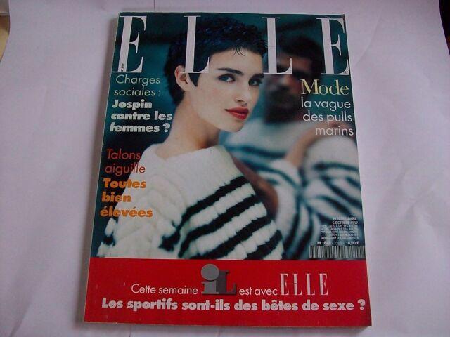 ELLE N°2701 6 OCT 1997 CAROLINE EGGERT BJORK KIM BASINGER ANNE RICE D. HELFGOTT
