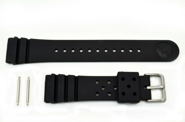 22mm Black Rubber heavy Watch band For SEIKO Divers Z-22 STRAP Watch with 2 pin