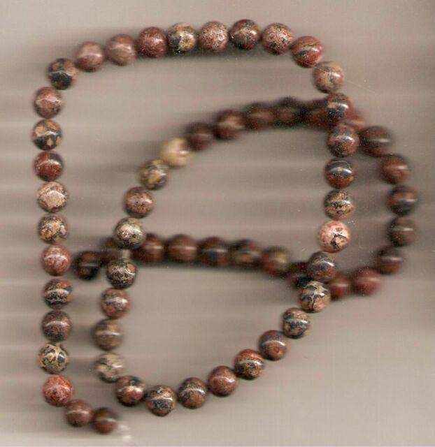 "16"" strand Natural LEOPARDSKIN JASPER 6mm Stone Beads"