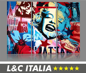 Marilyn 4 quadri moderni pop art vintage arredamento casa for Arredamento pop art