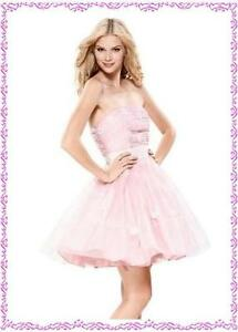 NWT-AUTH-Betsey-Johnson-Flower-w-Organza-Cocktail-Prom-Evening-Dress-Pink-4