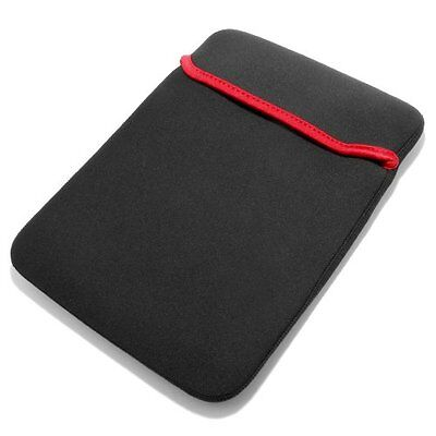 "17""inch Neoprene Notebook Laptop Sleeve Red Black Reversible Soft Case Cover Bag"