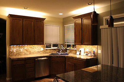 Kitchen Cabinet Counter LED Lighting Strip SMD 3528 300 LEDs 20/ft WARM WHITE