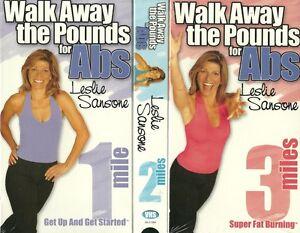 Wellness-Senior-Fitness-Walk-Away-the-Pounds-Abs-Fat-Burning-3-VHS-Lot