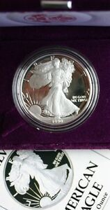1990-S-ULTRA-CAMEO-PROOF-AMERICAN-SILVER-EAGLE-BETTER-DATE