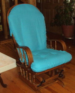 Slipcovers For Glider Rocking Chair Cushions Turquoise Cotton