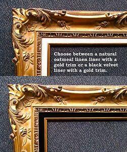 image is loading 24x36 ornate vintage antique hand carved gold kinkade