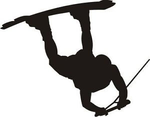 Wakeboard Raley Silhouette Vinyl Car Sticker Decal