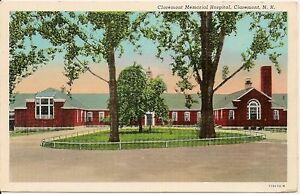 Claremont-Memorial-Hospital-Claremont-New-Hampshire-NH-Postcard