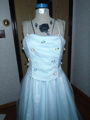 Retro Vintage tulle ball gown dress renew repurpose upcycle lace sz 11-12 NEW