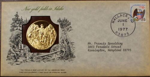 Franklin Mint 1oz Silver Medal Gold Fields in Idaho