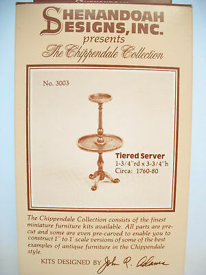 Kit - Tiered Server Chippendale  dollhouse miniature furniture 3003  1/12 scale