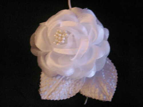 12 silk roses wedding favor flower corsage pick