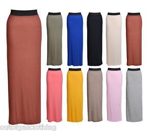 Womens-Gypsy-Long-Jersey-Maxi-Dress-Skirt-Ladies-Skirt