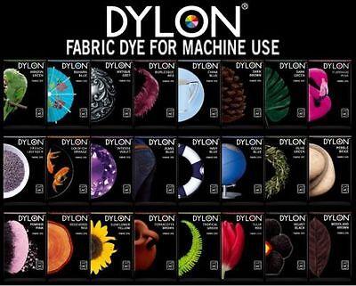 DYLON MACHINE BOX FABRIC CLOTHES WASH DYE 200G WASHING MACHINE COLOUR