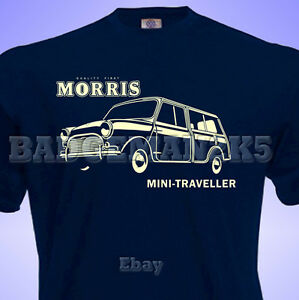 Classic-MORRIS-Mini-TRAVELLER-WOODIE-Mens-T-SHIRT-Perfect-for-Rallies