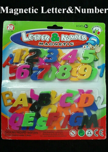 52 PCs Magnetic Letters Numbers Alphabet Capital Lower Case /& Vegetable Magnets