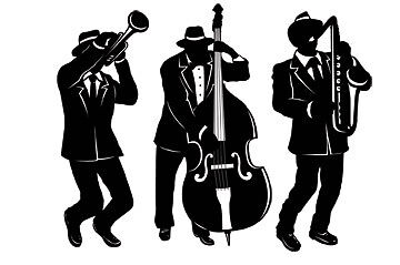 Pk 3 1920's Gangster Party Jazz Silhouette Decorations