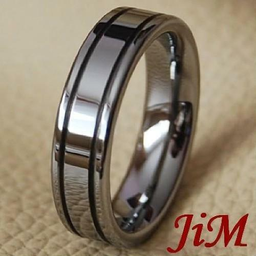 Mens Tungsten Carbide Ring Wedding Band Jewelry Love Titanium Color Size 6-15