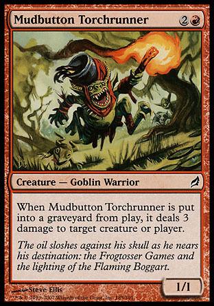 4x Mudbutton Torchrunner Lorwyn MtG Magic Red Common 4 x4 Card Cards