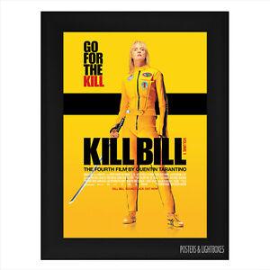 KILL-BILL-VOLUME-ONE-Framed-Film-Movie-Poster-A4-Black-Frame