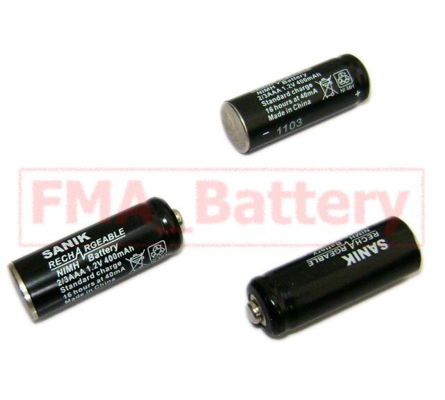 4Pcs FMA iDECT X1/ X1i Cordless Phone Battery Ni-MH 2/3AAA 1.2V 400mAh U/R