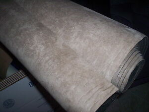 auto headliner suede upholstery fabric foam backing sand tan 18 suede crafts ebay. Black Bedroom Furniture Sets. Home Design Ideas