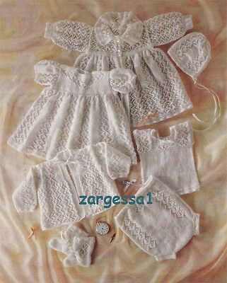 Baby Nostalgic 2ply Layette- Vintage Knitting pattern for your new baby