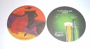 MALAYSIA-Beer-Mat-Coaster-CARLSBERG-Bull-Fighter-Bodega-2012-Refreshing-Awaits