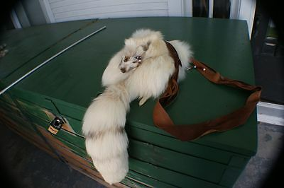 Beautiful Arctic Sunrise Ranch fox rendezvous bag/purse w/ white leather lining