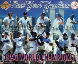 New York Yankees 1996 World Series Championship Picture Plaque