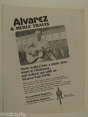 retro magazine advert 1980 ALVAREZ YAIRI merle travis