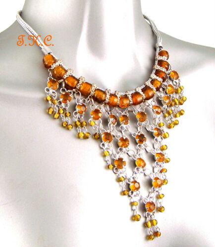 Ethnic Arabian African Kuchi Belly Dance /'V/' Mesh Net Tribal Necklace 6 Colours